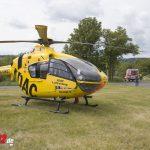 Insassen nach Unfall bei Mellingen eingeschlossen – Notarzt aus der Luft (08.06.2020)