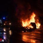 Autos bei Mellingen kollidiert und ausgebrannt: Sieben Insassen teils schwer verletzt  (10.08.2020)