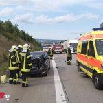 Auto kracht auf der A4 in LKW – Ersthelfer reagiert  Geistesgegenwärtig (24.09.2020)